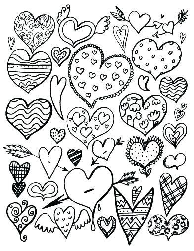 Images Hearts Heart Coloring Pages Valentine Coloring Pages