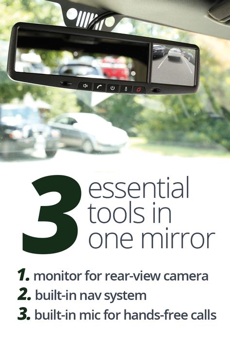 Rydeen MN312R -- GPS-equipped replacement rear-view mirror and back-up video monitor