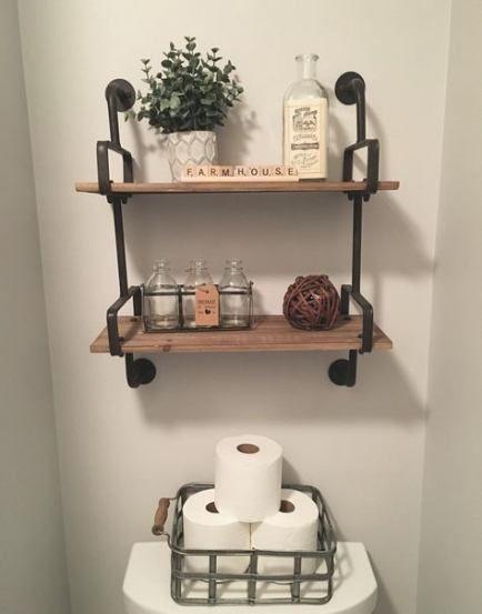 15 Ideas Bath Room Shelves Above Bath Powder Rooms For 2019 Bath Bathroom Shelf Decor Small Bathroom Decor Shelves