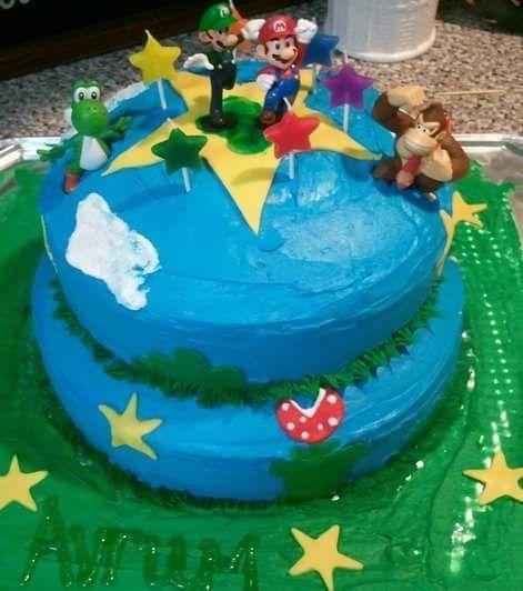 Wondrous Diy Cake Decor Mario Luigi Donkey Kong Yoshi Nintendo Stef Funny Birthday Cards Online Amentibdeldamsfinfo