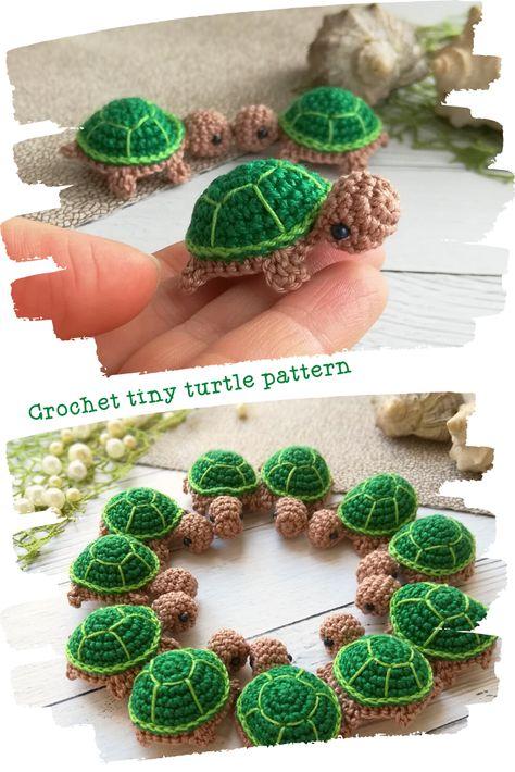 Crochet Pattern Tiny turtle
