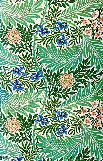 Orenco Originals Green Larkspur Detail 1 William Morris Design Counted Cross Stitch Pattern