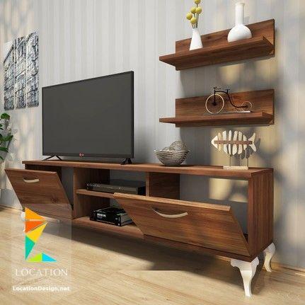 تصميم مكتبات مودرن 2019 افكار لتعليق التلفزيون في الجدار Casas