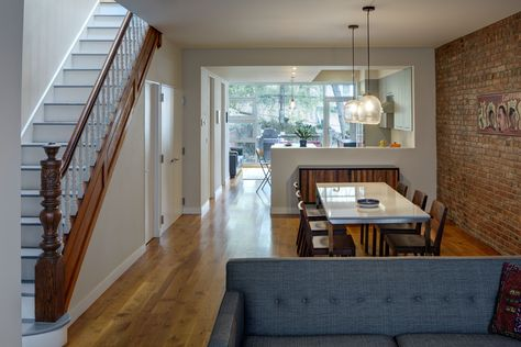 Park Slope Rowhouse Renovation Barker Freeman Design Office Archinect Row House Design Home Interior Design House Interior Open concept row house