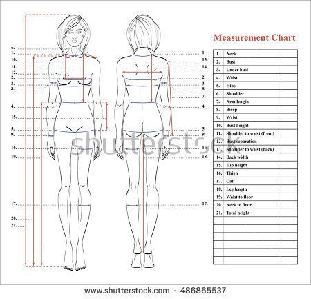 picture relating to Printable Body Measurement Chart for Sewing called Pin upon my sewing cl