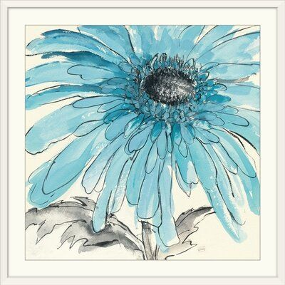 Great Big Canvas Contemporary Painting Of A Flower Close Up In The Frame Of The Image Format White Frame Si Contemporary Paintings Great Big Canvas Painting
