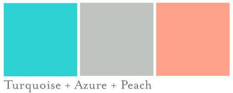 turquoise and peach wedding colors - Google Search