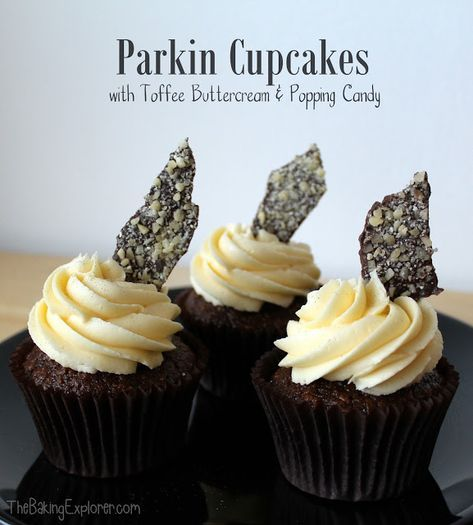 Parkin Cupcakes With Toffee Buttercream Popping Candy Recipe