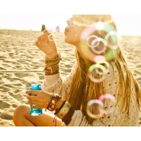 Bubbles and the beach.