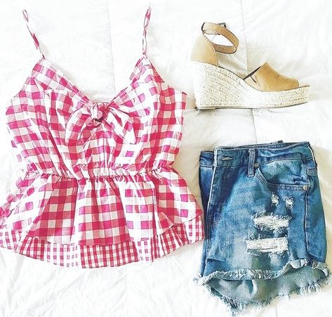 Totally just found my 4th of July outfit!! Y'all know I love gingham!! #ShopStyle #shopthelook #SummerStyle #MyShopStyle #BeachVacation #WeekendLook #GirlsNightOut #OOTD #wiw #fashion #fashionblogger #thepricelesslifestyle