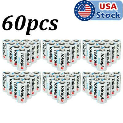 New 60pcs Tokeyla 3v Cr123a 123a 123 Cr17345 3 Volt Lithium Batteries For Camera In 2020 Camera Photo Lithium Battery Camera