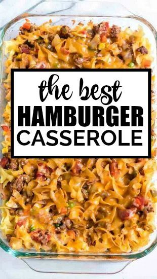Hamburger Casserole Is One Dish Comfort Food At It S Finest Baked With Noodles Beef Casserole Recipes Ground Beef Recipes For Dinner Beef Recipes For Dinner