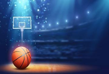 Basketball Court Blue Light Backdrop For Photography Hu0097 Basketball Forest Illustration Light Backdrop