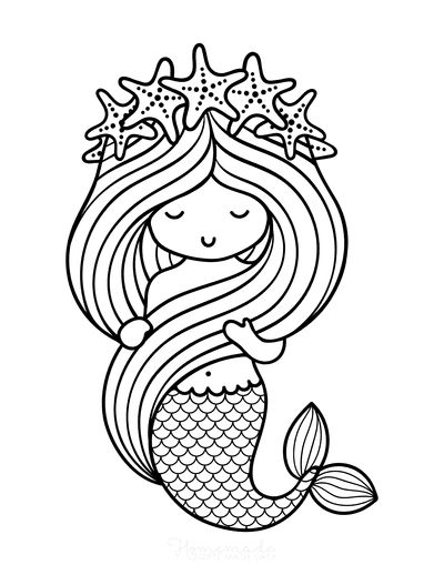 57 Mermaid Coloring Pages Free Printable Pdfs In 2021 Mermaid Coloring Pages Mermaid Coloring Cute Coloring Pages