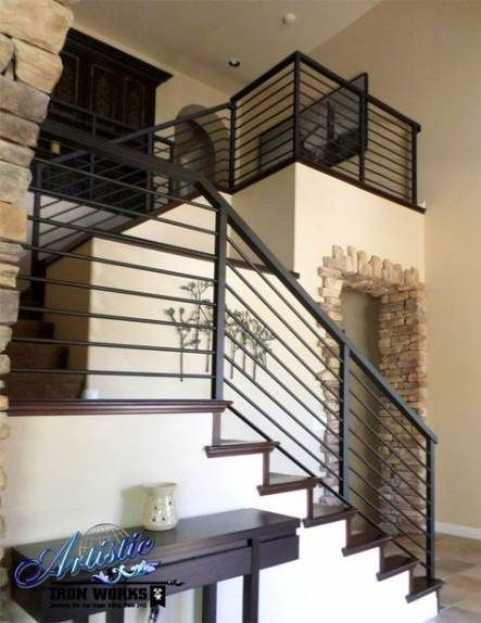 39++ Exterior iron stair railing trends