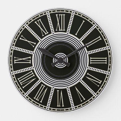 Classic Roman Numeral Large Clock Zazzle Com Large Clock Clock Roman Numerals