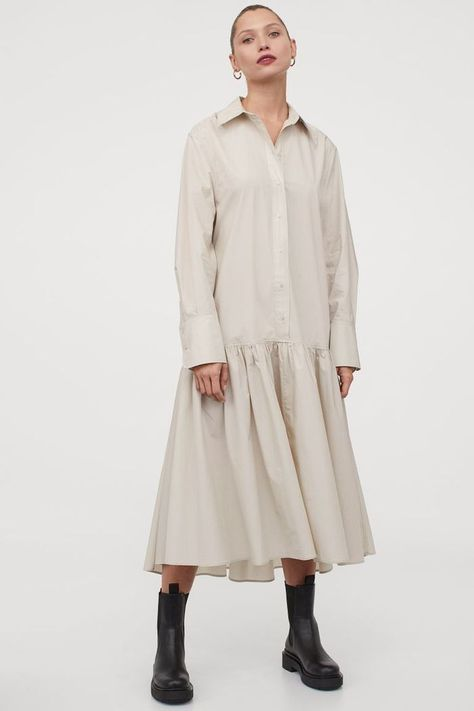 HM Flounced Shirt Dress
