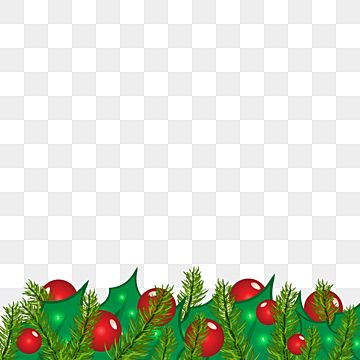 Christmas Holly Leaves Tree And Ball Border Design Christmas Decoration Border Png And Vector With Transparent Background For Free Download Winter Ornaments Christmas Holly Holly Leaf