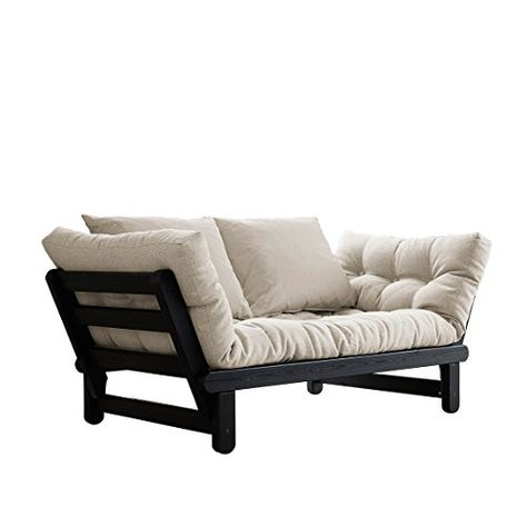 Fresh Futon Beat Convertible Futon Sofa Bed Black Frame Natural