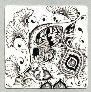 123 Best Zentangle Flowers And Leaves Images Zentangle