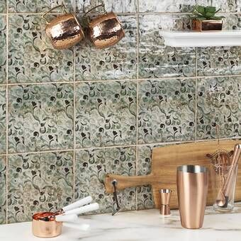 Diego 8 X 8 Ceramic Wall Floor Tile In 2020 Ivy Hill Tile Natural Stone Tile Outdoor Kitchen Countertops