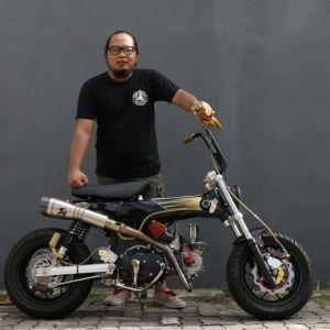 Gastank Magazine Honda St 70 Dax Detailnya Tetap Dikulik Minibike Custom Bike Sepeda