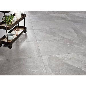 1200 X 600mm Wickes Co Uk Tile Floor Porcelain Floor Tiles Grey Tile Kitchen Floor