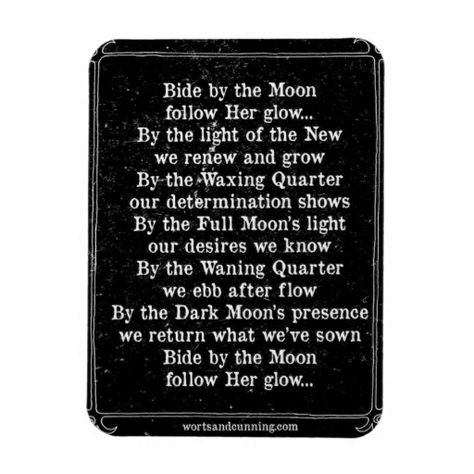 Bide by moon spell.