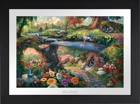 Alice in Wonderland - Limited Edition Paper - 12 x18 / AP-Satin Black
