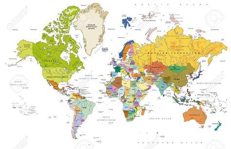 Mapa Rios Del Mundo.Mapa Del Mundo Politico Muy Detallado Con Capitales Rios