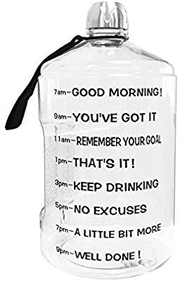Make Sure You Stay Hydrated. 64 oz Hydration Bottle Daily Water Tracker Time Marked to Ensure You Drink 64 Ounces of Water Throughout the Day