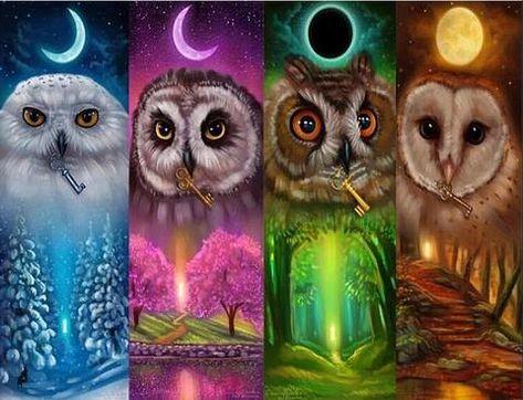 Four Season Owls - DIY Diamond Painting