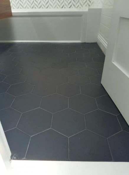 new bathroom floor tile hexagon grey