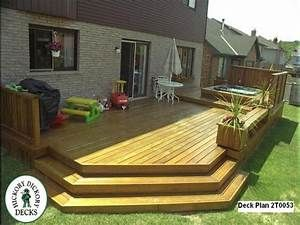 Low Level Deck Designs Ground Level Deck Designs Large