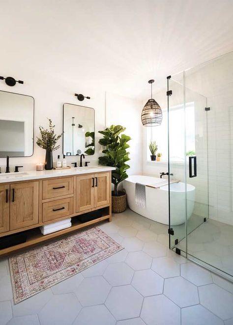 Laundry In Bathroom, Bathroom Renos, Wood Bathroom Cabinets, Small Bathroom Paint, Modern Master Bathroom, Wood Cabinets, Bathroom Renovations, Bathroom Ideas, Bathroom Interior Design