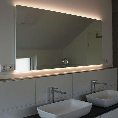 Siena Oben Unten Design Badspiegel Mit Led Beleuchtung Zum