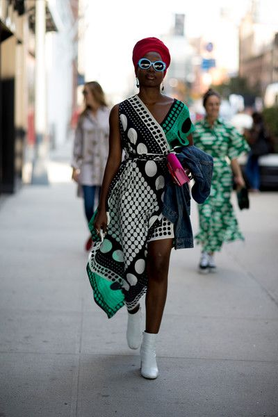 Dot Print - 60 Creative Outfit Ideas From New York Fashion Week - Photos