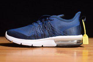 Mens Nike Air Max Sequent 4 Running Shoes Utility Dark Blue