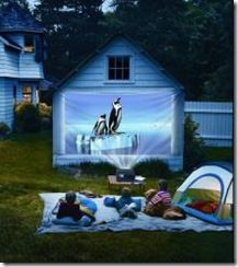 Want To Do This For Neighbor Kids If I Can Figure Out Our Projector. Outdoor  Drive In Movie Night   Use Your Garage Or Side Of House And Project Movie  Onto.