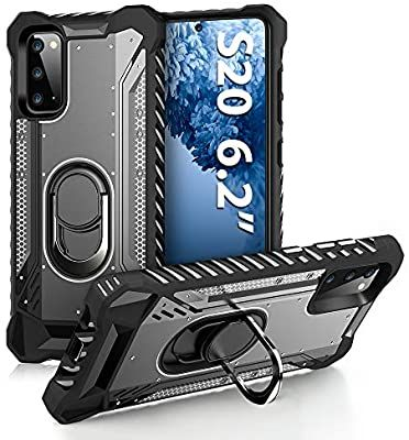 Amazon Com Floveme Samsung Galaxy S20 Case Samsung S20 Phone Case With Kickstand Ring Holder Silicone Metal Cover Full In 2020 Samsung Cases Kickstand Phone Cases
