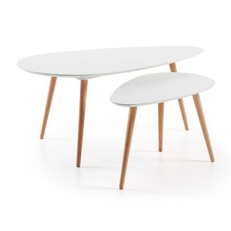 Brick Set Side Tables White By La Forma In 2019 Table