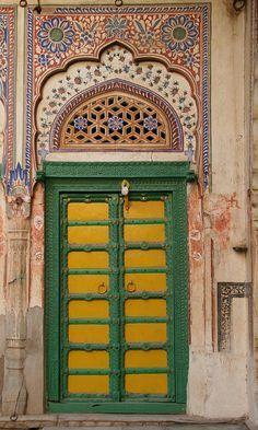 Old style Pakistani punjabi wooden carved door | Sikh | Doors, Door