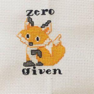 Zero Fox Given Counted Cross Stitch Kit