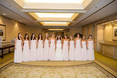Lauren + Zach featured in @dweddings Most Popular Dallas Weddings of 2014 | Pink Bridesmaids | @blombergphoto