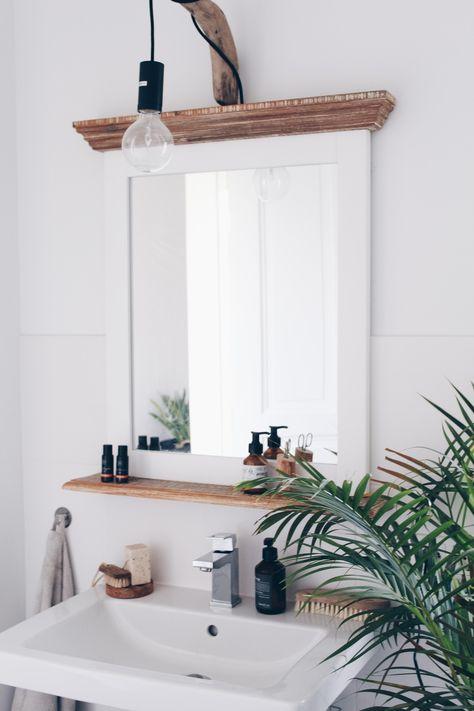 Diy Do It Yourself Ideen Zum Selbermachen Badezimmerspiegel Ast Lampe Und Badezimmerspiegel Rahmen