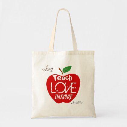 Apple Teacher Tote Bag