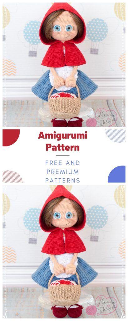 Crochet doll pattern / Amigurumi doll pattern - MERRY / Christmas ... | 1024x410