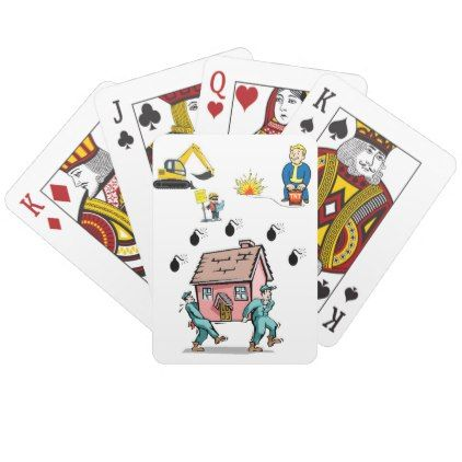 Construction Playing Card Deck Zazzle Com Playing Card Deck Cards Custom Deck Of Cards