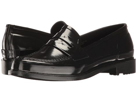 7733f362d8f Hunter Original Penny Loafers Women s Shoes Black