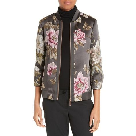 130926c42d194 Women s Ted Baker London Hartye Bomber Jacket ( 329) ❤ liked on Polyvore  featuring outerwear